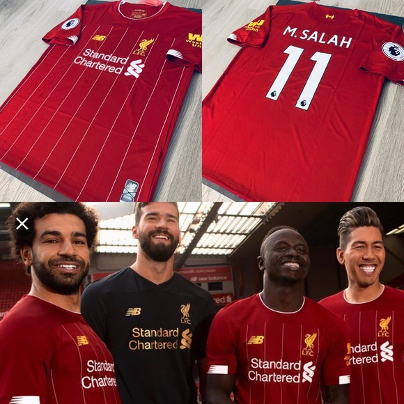 size 40 e3caa c31d3 Mohamed Salah #11 soccer jersey new Liverpool home NWT